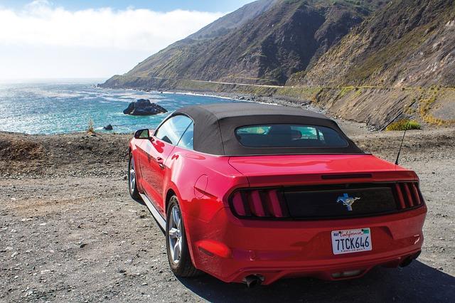 Mustang na pláži