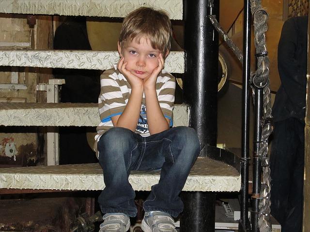 kluk na schodech