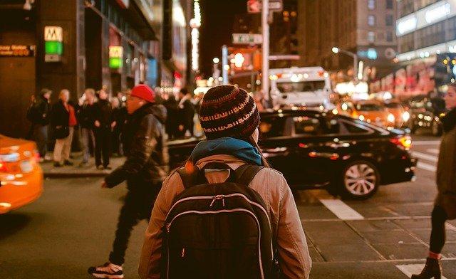 chůze městem