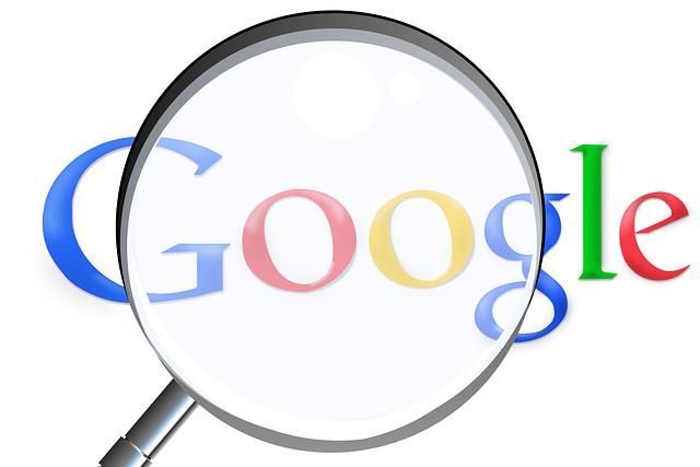 zvětšovací sklo na google